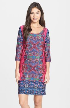 FELICITY & COCO Print Jersey Shift Dress (Regular & Petite) (Nordstrom Exclusive) available at #Nordstrom