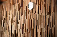Vertical Timber feature wall from the one and only Stack Panel Australia.