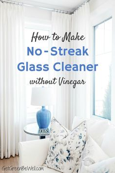 There's a secret ingredient for no-streak window cleaning! This is the reason why you need this surprising pantry staple in any DIY glass cleaner for windows and mirrors.