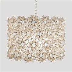 """Pretty bedroom chandelier -- """"Rosette"""" Capiz Chandelier"""