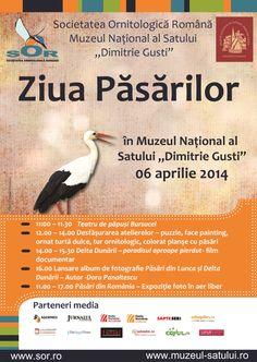 """Ziua Păsărilor, 6 aprilie 2014 la Muzeul Naţional al Satului """"Dimitrie Gusti"""" – ediţia a III-a Digital Watch, Martie, Pictures, Logo, Photos, Logos, Grimm, Environmental Print"""