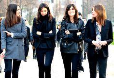 French Vogue's editors  So cooooool!