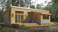 Prefab Homes, Modular Homes Small Room Design, Tiny House Design, Modern House Design, Modern Houses, Tiny House Living, Living Room, Small Living, Living Spaces, Small House Plans