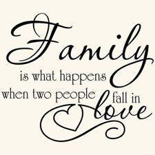 FAMILY LOVE QUOTE VINYL WALL DECAL STICKER ART-DECOR