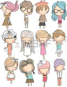 Find boy and girl cartoon faces stock images in HD and millions of other royalty-free stock photos, illustrations and vectors in the Shutterstock collection. Thousands of new, high-quality pictures added every day. Doodle Drawings, Cute Drawings, Doodle Art, Cartoon Faces, Cartoon Drawings, Cute Illustration, Character Illustration, Doodle People, Cute Doodles