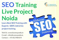 #Kcoresysedu, offering first time in #noida #Live #Project #Industrial #training opportunity for SEO and SMO IT courses. You can build up your careers.