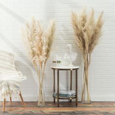 3 Gorgeous High Quality Pampas Grass Stems - Pampas Grass Dried pack of 3 - Preserved Natural Pampas Grass - Wedding Decor Dried Flower Bouquet, Dried Flowers, Fall Flowers, Wedding Popcorn Bar, Grass Decor, Wedding Themes, Wedding Decorations, Grass Centerpiece, Lavender Flowers