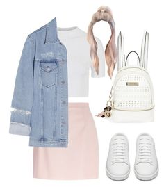 """Sans titre #1265"" by frenchystyle ❤ liked on Polyvore featuring River Island, Topshop, Yves Saint Laurent and Acne Studios"