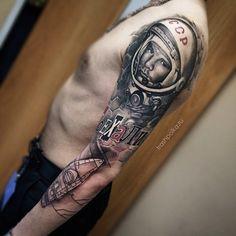 trash polka gagarin tattoo