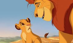 """""""One day, Simba, the sun will set on my time here, and will rise with you as the new king."""" - Mufasa in The Lion King"""