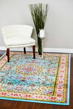 Persian Rugs Blue Colorful Isfahan Oriental Area Rugs