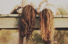 hanging out girly friendship photography summer hair friends vintage hipster brunette bestfriends sisters bff blondhair brownhair Just Girly Things, Girl Things, Random Things, Look Girl, My Girl, Citations Swag, Image Swag, The Brunette, Brunette Bride