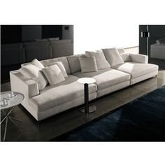 Minotti Albers Depth 134 Sectional Sofa - Style # Albers134Sofa, Contemporary Leather Sofa & Leather Sectional Sofas | SwitchModern