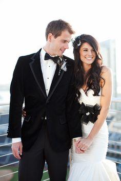 Beautiful White/Black Wedding Dress Combo | My Wedding Invite - for weddings on a budget | Customise  DIY Printable | #weddingideas | #weddinginvitation | #myweddinginvite www.myweddinginvite.co.nz