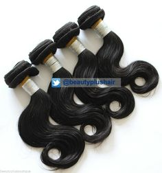 6A 4Pcs/lot 16/18/20/22 Brazilian Virgin Body Wave #HairExtensions 400g/lot #1B Virgin Hair Extensions, Body Wave Hair, Health And Beauty, Hair Care, Wigs, Short Hair Styles, 18th, Weaving, Leather