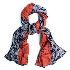 PATCH NYC - SCARVES - PATCH NYC CLASSIC MIXED FABRIC SCARF {FSC402}
