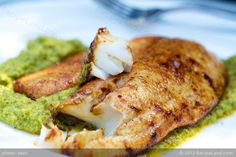 This is an excellent recipe for grilling flounder. The cajan seasoning is very… Fish Dishes, Seafood Dishes, Seafood Recipes, Dinner Recipes, Main Dishes, Dinner Ideas, Seafood Meals, Grilled Fish Recipes, Grilling Recipes