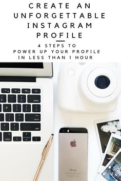 It only takes 1 second for someone to decide whether or not they will follow you on Instagram. Power up your profile in less than an hour with these 4 easy steps to make your Instagram profile unforgettable!
