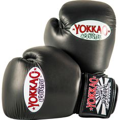 Brand New collection release High quality premium cowhide leather Black YOKKAO logo Long lasting shock-absorbing foam Handcrafted by Thai professionals in Thailand Attached thumb for added support Doublestiched seams for extra reinforcement Hook and loop closure