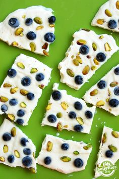These are so genius!  Create these yogurt bars with kids' favorite things from Kids Activities Blog.