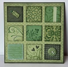 Cute card to use your matching scraps.