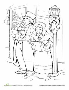 1000 Images About Victorian Christmas Coloring Pages On