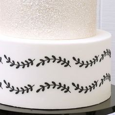 Designed by the talented Julie Deffense, this stencil has the look of delicate hand-piped vines, only they're perfect.and fast! Combine with any of her matching Vine Stencils to create multi-tiered cakes with coordinating patterns. Wave Stencil, Tiered Cakes, Cake Ideas, Vines, Stencils, Delicate, Patterns, Create, Design