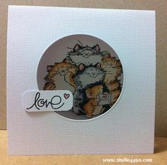 Love Materials used: Stamps - Purrr-fect Friends! 1746K (Penny Black), Simply Said (Paper Smooches), Critters Ever After (Lawn Fawn); Cardst...