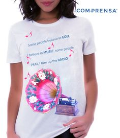 """A cotton T-shirt, round neck, short sleeves, with a print """" Some people believe in… """"  #manufacturer #barcelos #sweat #colours #tshirt #cotton #comprensa #fashion #model #fashion #design #company #textile #portugal #sublimation #screenprinting #digitalprint #laser #photoprint"""