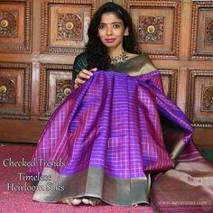 Pretty purple bhavanji border Saree