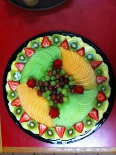 """Fruit platter - make a cross & serve at sacraments / holy days celebrations."""