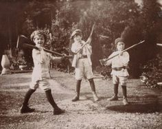 """amarantoseverlasting: """" George Llewellyn-Davies, Jack Llewellyn-Davies and Peter Llewellyn-Davies. Picture taken by J.M. Barrie, as published on the """"The Boy Castaways"""" book by Barrie himself, under Peter's name. """""""