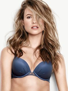 We're calling it: navy blue IS the new black. Which makes this push-up bra your new lingerie drawer essential. With plenty of padding, it'll give you the perfect amount of cleavage and lift. Now THAT'S Fabulous. | Fabulous by Victoria's Secret Push-Up Bra