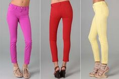Colored Denim....new obsession....looking to find them just as good but less expensive than the pairs I have from express!
