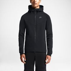 438ff3333942 Nike Tech Fleece Windrunner Mens Hoodie Jacket L Black 545277 011