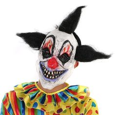 Cool Great Scary Clown Mask Halloween Party Costume Decorations Creepy Latex Mask black 2018 Check more at http://24myshop.cf/fashion-style/great-scary-clown-mask-halloween-party-costume-decorations-creepy-latex-mask-black-2018/