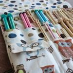 link to lots of tutorials for various knitting needle cases