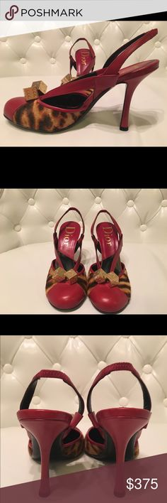 🔻REDUCED! Dior Heels Christian Dior Gambler collection. Authentic. In excellent condition. Worn only once. Two gold dice on each shoes. Very sexy with red slim heels. Very fashionable with skinny jeans, very sophisticated with a black dress. There is a Dior logo on each dice. Christian Dior Shoes Heels