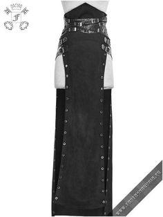 Q-298fem Katana - women's open sides skirt by Punk Rave | Gothic, Steampunk, Metal, Punk, Lolita, Fetish fashion style e-shop. Punk Rave, RQ-BL, Fantasmagoria clothing brands #gothicfashion,