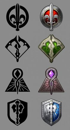 Games Interface Rpg 56 New Ideas Game Art, Game Ui Design, Icon Design, Dungeons And Dragons, Game Interface, Game Icon, Fantasy Weapons, Game Logo, League Of Legends