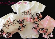 Personalized Set bodysuit leg warmers and by Bellaclairebaby, $56.95