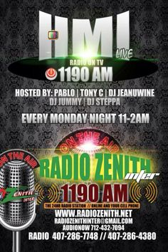 HMI LIVE  MONDAY Night . . . Monday NIGHT . . . 11pm to 2am SPECIAL TIME Only EACH and EVERY Monday Night . . . Get Connected  Facebook: HMI Live AUDIO NOW: 401-347 0125, from 11pm to 2am Tune In App: am 1190 news Radio: 1190 am - Orlando, FL Call HMI Live Questions & Topics: 407.413.5500 OR 407.413.5501