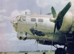"""""""Alice Blue Gown"""" was indeed a lovely lady, managing to take her crews through sixty-seven missions with the 851st Squadron, 490th Bomb Group, out of Eye.  (Photo by Arnold N. Delmonico)"""