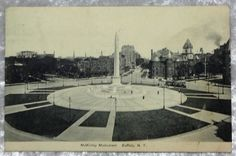 1908 Buffalo NY McKinley Monument Postcard, Upstate New York, Vintage Antique Souvenir Collectible by OakwoodView, $4.00