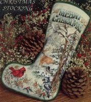 Woodland Christmas Stocking by Stoney Creek - Cross Stitch Kits & Patterns Cross Stitch Christmas Stockings, Cross Stitch Stocking, Christmas Stocking Pattern, Cross Stitch Books, Xmas Stockings, Cross Stitch Kits, Christmas Cross, Cross Stitch Patterns, Christmas Pics