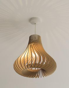 Twisted Lasercut Wooden Lampshade - Hershey's Kisses Wooden Lampshade, Fabric Lampshade, Wood Lamps, Wood Pendant Light, Ceiling Pendant, Ceiling Lamp, Laser Cut Lamps, Lamp Shades, Laser Cutting