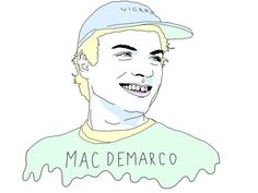 mac demarco print by EveningSunEnt on Etsy
