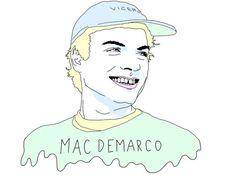 mac demarco print by EveningSunEnt on Etsy