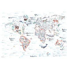 Beautiful Weltkarte