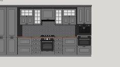 """kitchen furniture, kitchen, кухня """"Париж"""" ЗОВ, кухня - 3D Warehouse Top Furniture Stores, Sketchup Model, 3d Warehouse, Furniture Assembly, Diy Bedroom Decor, Home Decor, Kitchen Furniture, Models, Vintage Furniture"""